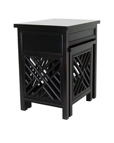 Charleston Furniture Window Nesting Tables [Black]