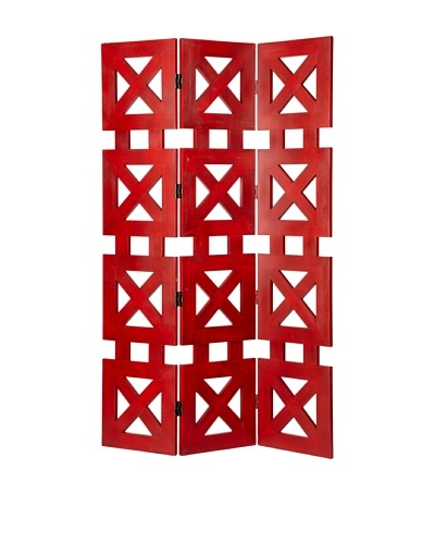 Charleston Furniture Check Screen [China Red]