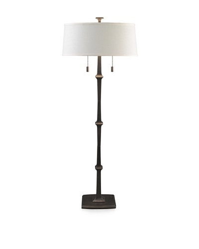 State Street Lighting Double-Light Floor Lamp, Old Iron