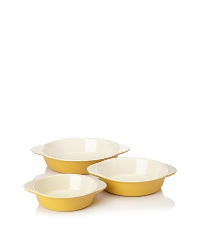 Chasseur 3-Piece Round Gratin Baker Set [Yellow]