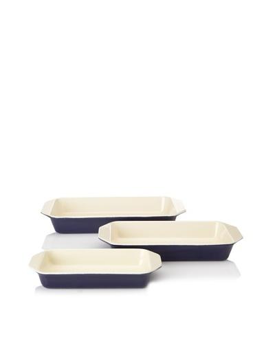 Chasseur 3-Piece Rectangular Gratin Baker Set [Blue]
