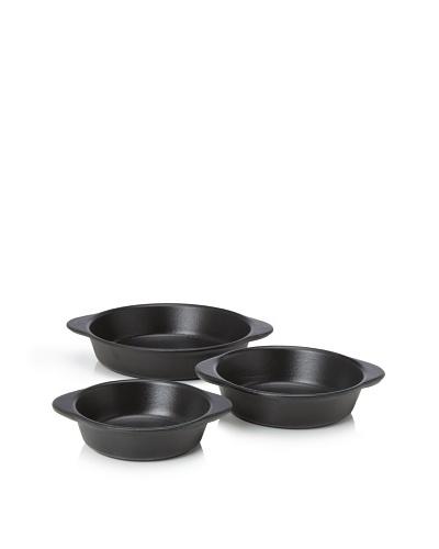 Chasseur 3-Piece Round Gratin Baker Set [Black]