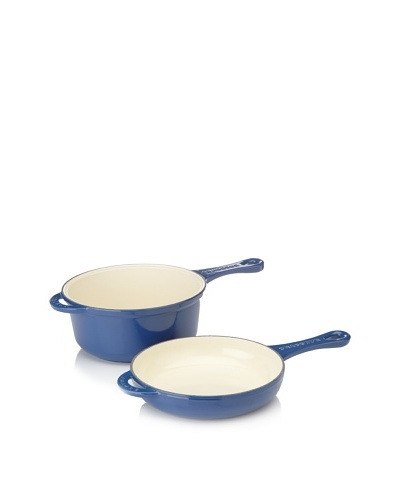Chasseur 9 Double-Enameled Cast Iron Combicook Pan and Fry Pan/Lid Set