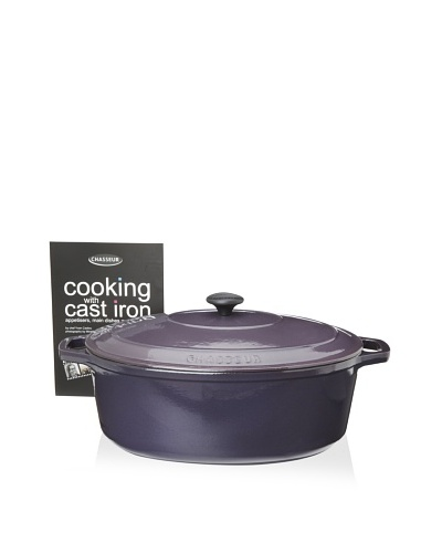 Chasseur Oval Cast Iron Casserole with Lid