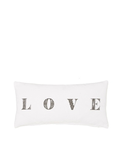 Chateau Blanc Love Pillow, White, 10 x 20As You See