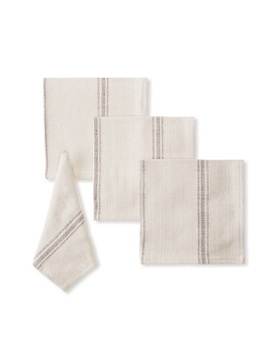 Chateau Blanc Set of 4 Buttermilk Dinner Napkins, Brown