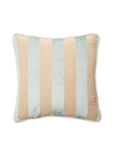 """Chateau Blanc Sophie Stripe Pillow, Spa/Neutral, 18"""" x 18"""""""