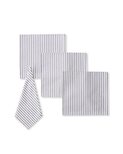 Chateau Blanc Set of 4 Ticking Dinner Napkins
