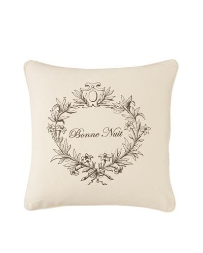 Chateau Blanc Natalie Bonne Nuit Pillow, Cream, 20 x 20