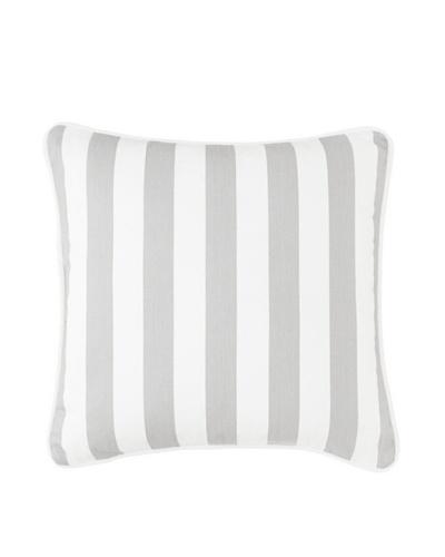 """Chateau Blanc Gabrielle Stripe Pillow, Grey/White, 18"""" x 18"""""""