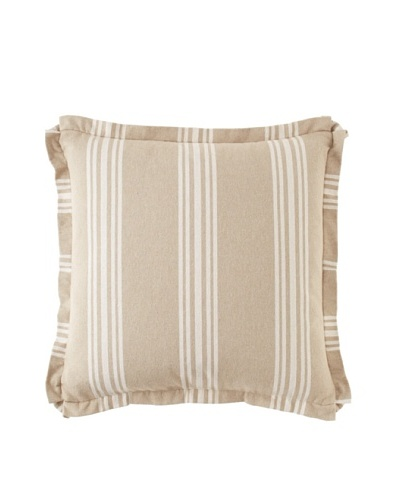 Chateau Blanc Sophie Stripe Pillow, Neutral, 20 x 20