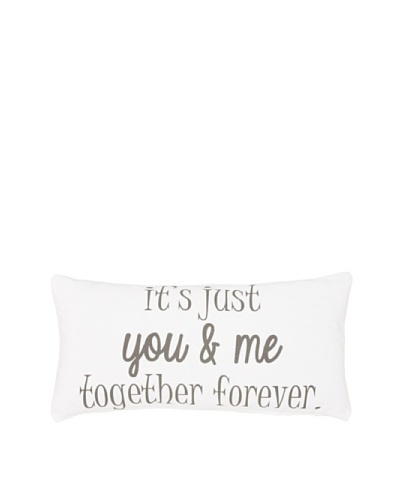 """Chateau Blanc Together Forever Pillow, White, 10"""" x 20""""As You See"""