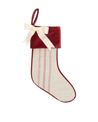 Chateau Blanc Striped Stocking, Ivory