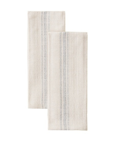 Chateau Blanc Set of 2 Buttermilk Cafe Towels, Blue