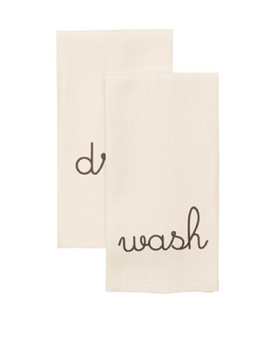 Chateau Blanc Set of 2 Sophie Hand Towels, Cream, 13 x 24