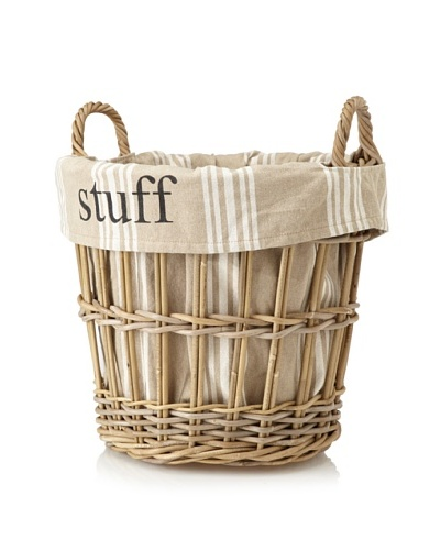 Chateau Blanc Kingston Large Rattan Basket, Brown/Neutral