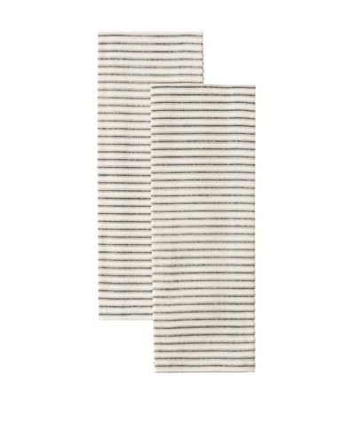 Chateau Blanc Set of 2 Ticking Cafe Towels