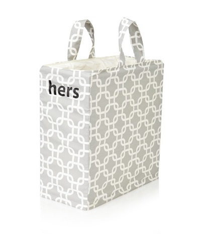 "Chateau Blanc Sonoma ""Hers"" Hamper, Grey/White"