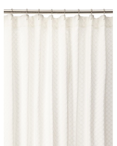Chateau Blanc Solid Shower Curtain, White, 72 x 76