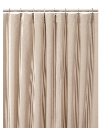 Chateau Blanc Tan Stripe Shower Curtain, Neutral