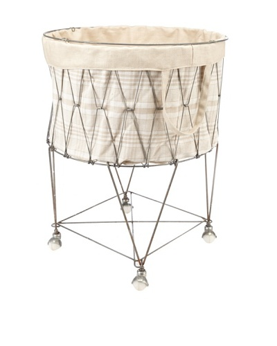 Chateau Blanc Kingston Large Wire Hamper, Neutral