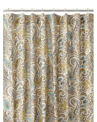 Chateau Blanc Paisley Shower Curtain, ChocolateAs You See