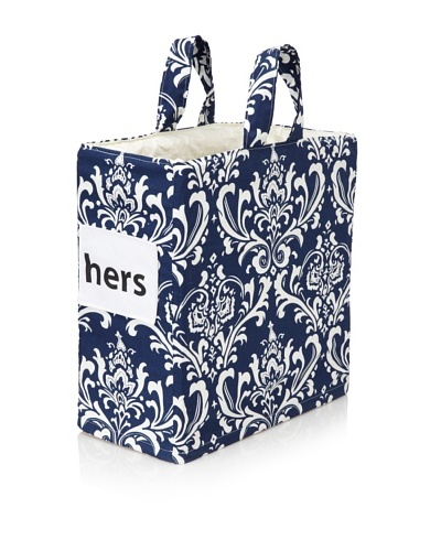 Chateau Blanc Nantucket Hers Hamper, Navy/White