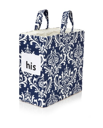 "Chateau Blanc Nantucket ""His"" Hamper, Navy/White"