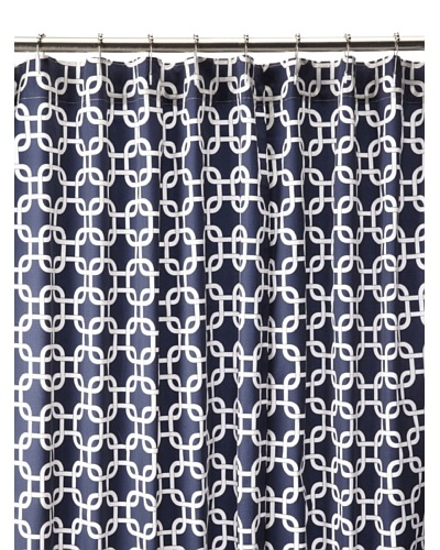 Chateau Blanc Natalie Shower Curtain, Navy/White, 72 x 76