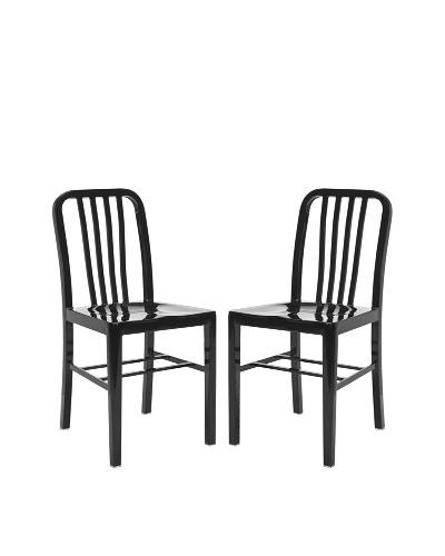 Safavieh Set of 2 Polaris Side Chairs, Black