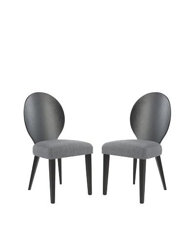 Safavieh Set of 2 Roxanne Side Chairs, Grey