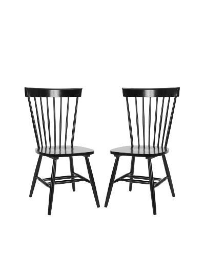 Safavieh Set of 2 Parker Side Chairs, Black