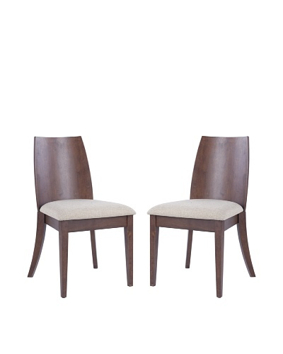 Safavieh Set of 2 Jed Side Chairs, Beige