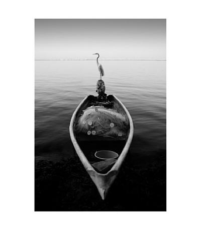 "Moises Levy ""Canoe and a Heron"""
