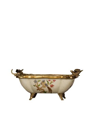 Oriental Danny Porcelain Peacock Bowl