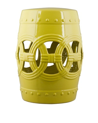 Oriental Danny Circle of Happiness Garden Stool, Yellow