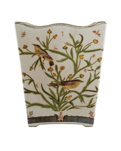 Oriental Danny Satin Grass Porcelain Wastebasket