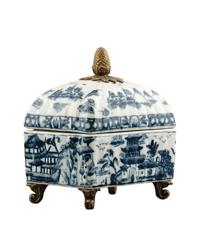 Oriental Danny Porcelain Blue Willow Box