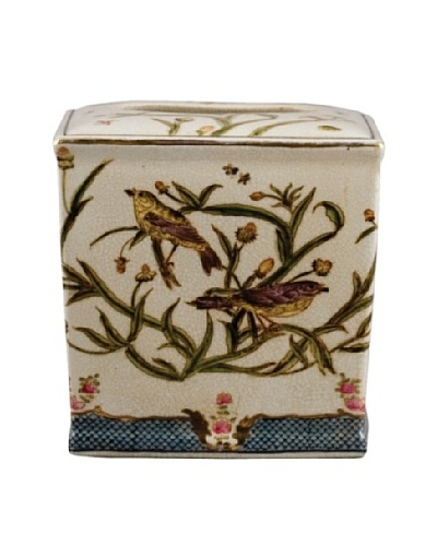 Oriental Danny Satin Grass Porcelain Tissue Box