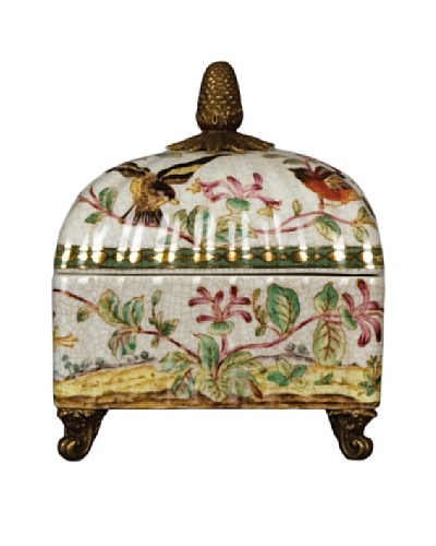 Oriental Danny Porcelain Rounded Top Box with Will Bird