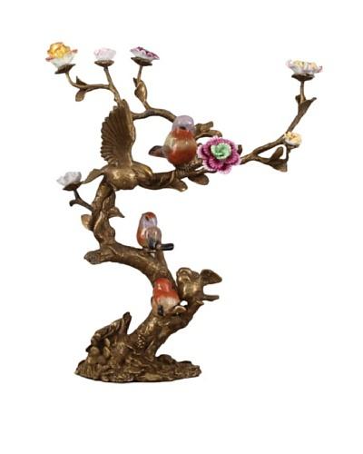 Oriental Danny Birds Singing Bronze Tree