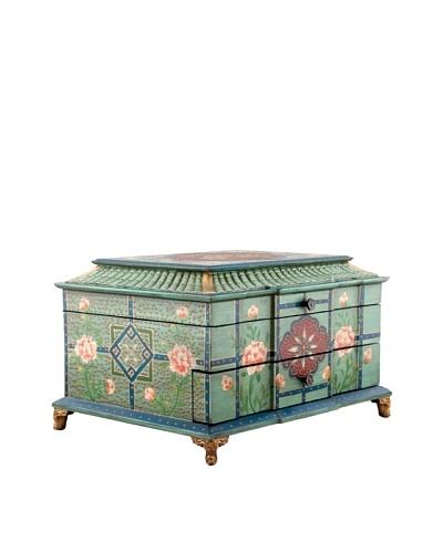 Oriental Danny Turquoise Flatware/Jewelry Box