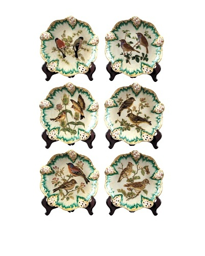 Oriental Danny Set of 6 Decorative Birds Plates