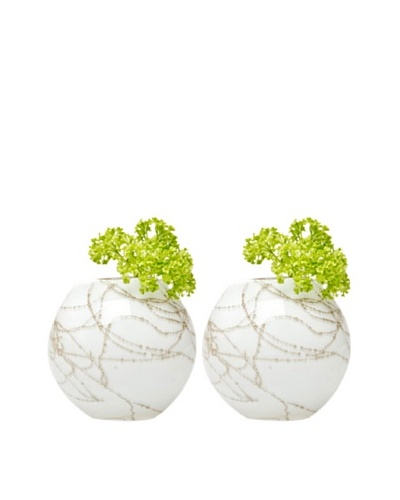 Chive Set of 2 Champagne Sphere Vases