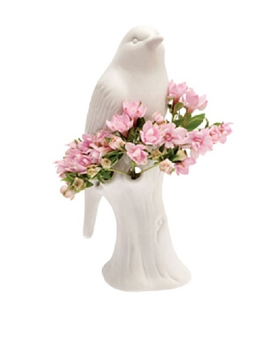 Chive White Porcelain Bird Vase