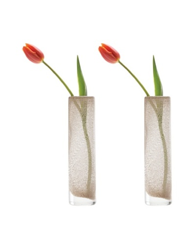 Chive Set of 2 Copper Small Pipe Vases