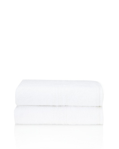 Chortex 2-Piece Imperial Bath Sheet Set, White