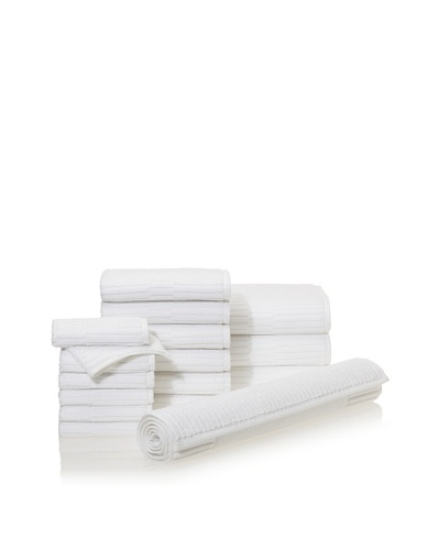 Chortex Oxford 16-Piece Bath Towel Set, WhiteAs You See