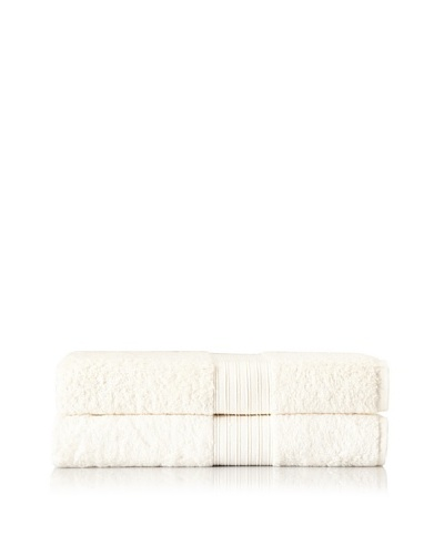 Chortex Set of 2 Indulgence Bath Sheets, Cream, 35 x 60