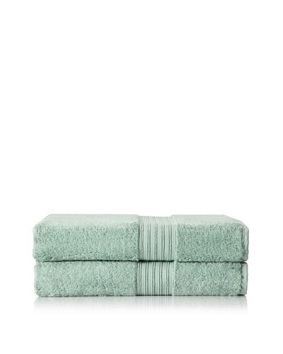 Chortex Set of 2 Indulgence Bath Sheets, Jade, 35 x 60